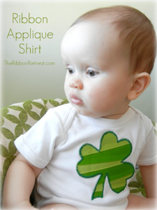 Ribbon Shamrock Applique Shirt