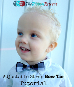 Adjustable Strap Bow Tie
