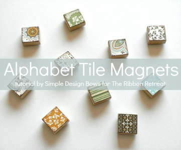 Alphabet Tile Magnets