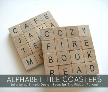 Alphabet Tile Coasters