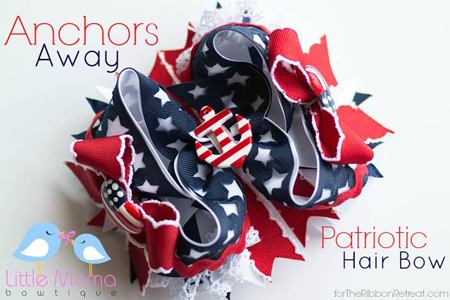 Anchors Away Hair Bow
