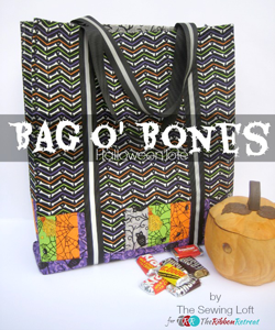 Bag o' Bones Halloween Tote