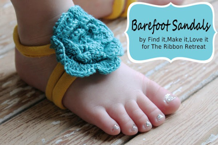 how to make bottomless sandals for babies