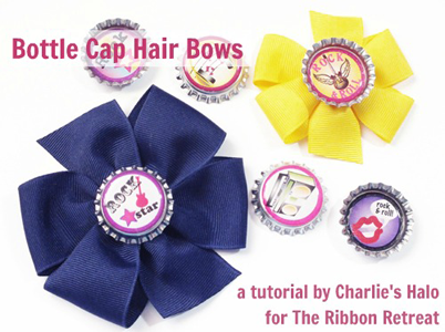 Bottle Cap Hair Bows