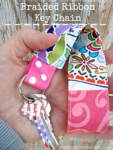 Braided Ribbon Key Chain