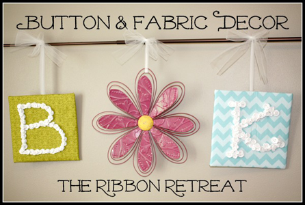 Button & Fabric Decor