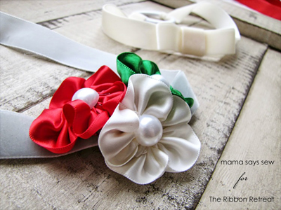 Satin & Pearl Baby Headbands