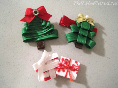 Christmas Tree Ribbon Sculpture