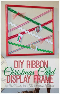 Ribbon Card Display Frame