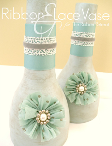 Ribbon & Lace Vase
