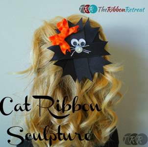 Cat Ribbon Sculpture