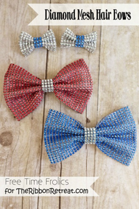 Diamond Mesh Hair Bows