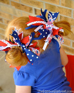 Firecracker Hair Bows