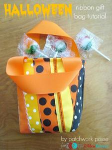 Halloween Ribbon Gift Bag