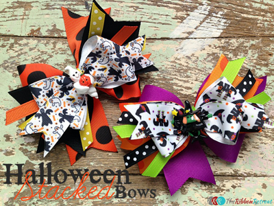 Spikey Stacked Hair Bows