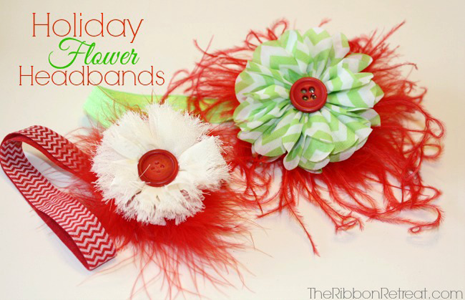 Holiday Flower Headbands