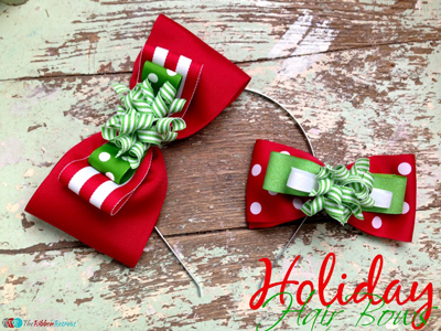 Simple Holiday Hair Bows