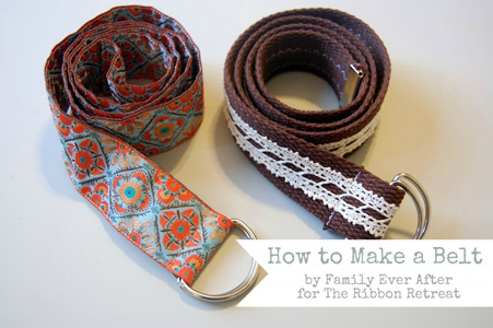 How to Make a Ribbon Belt