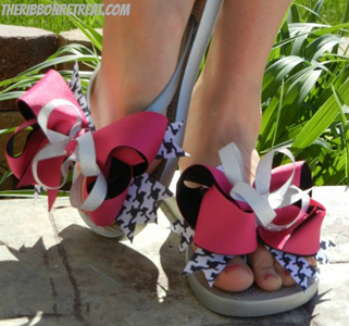 Interchangeable Bow Flip Flops