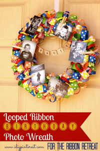 Looped Ribbon Party Wreath