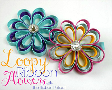 Loopy Ribbon Flowers
