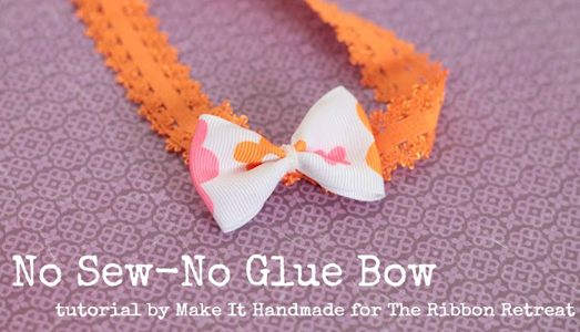 No Sew No Glue Quick Bow