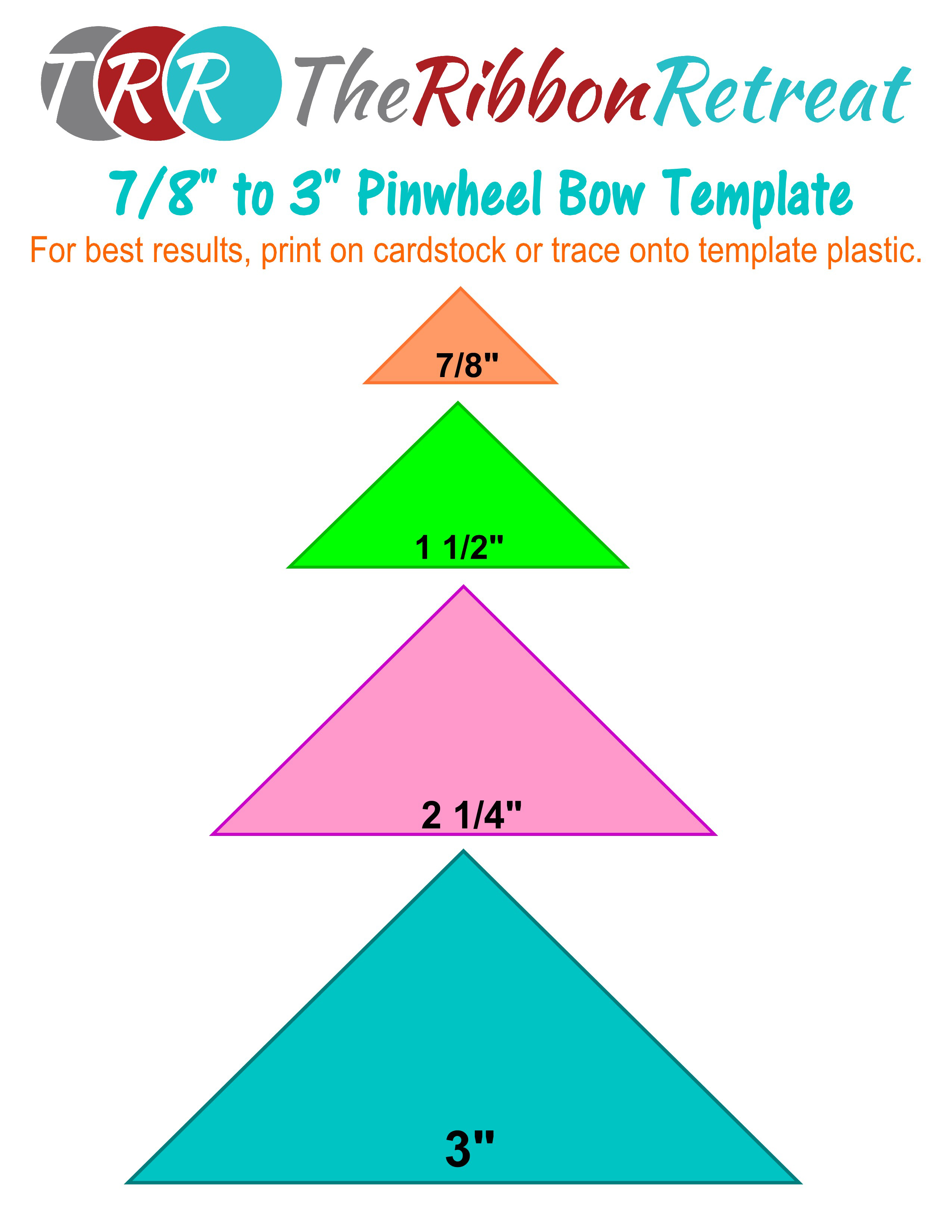 Pinwheel bow template pronofoot35fo Gallery