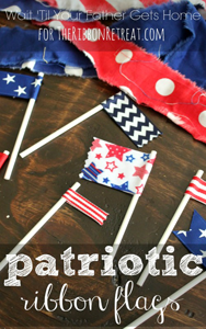 Patriotic Ribbon Flags