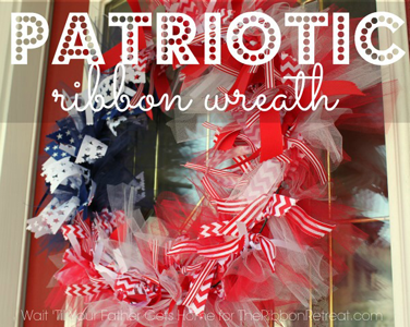 Patriotic Ribbon & Tulle Wreath