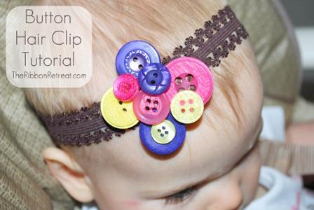 Button Hair Clip