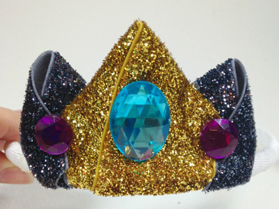 Glitter Ribbon Princess Crown