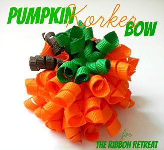 Pumpkin Korker Bow