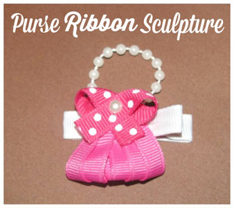 Purse Ribbon Sculpture