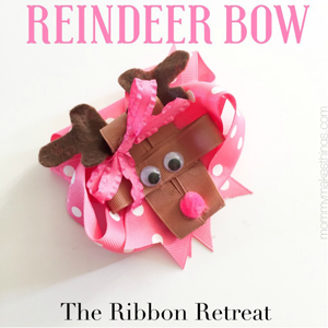 Reindeer Ribbon Sculpture