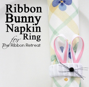 Ribbon Bunny Napkin Rings