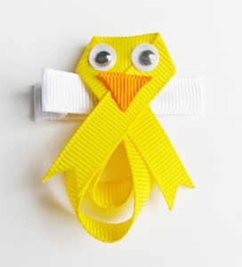 Baby Chick Ribbon Sculpture