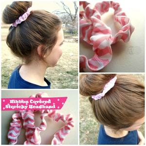 Ribbon Covered Headband
