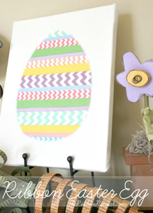 Ribbon Easter Egg Applique