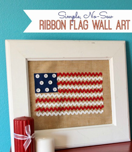 Ribbon Flag Wall Art
