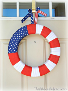 Ribbon Flag Wreath
