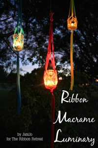 Ribbon Macrame Luminary