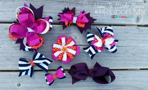 How to Make Bows with a Ribbon Mix