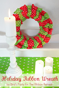 Wired Ribbon Wreath