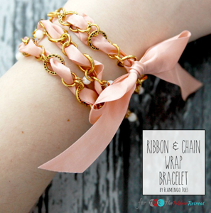 Ribbon & Chain Wrap Bracelet