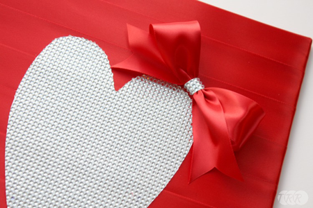 Ribbon & Gem Heart Decor