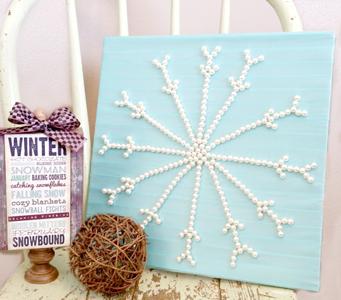 Ribbon & Pearl Snowflake