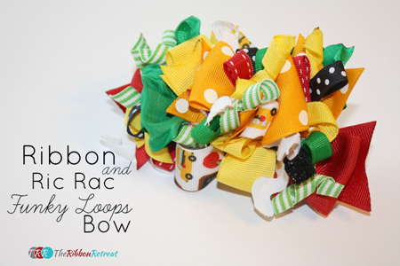 Ribbon & Ric Rac Funky Loops Bows