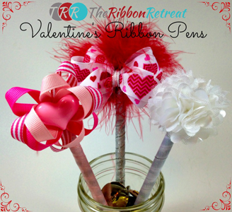 Ribbon and Flower Pens