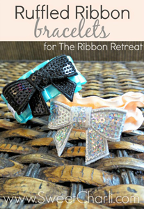Ruffled Ribbon Bracelets