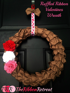 Ruffled Ribbon Wreath